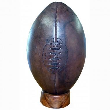 Ballon de rugby vintage en cuir - Ballon de rugby cuir vintage ...
