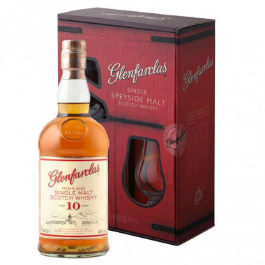 Coffret Glenfarclas 10 ans 70 cl 40° + 1 verre