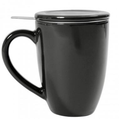 Tisanière céramique filtre inox noir 360ml