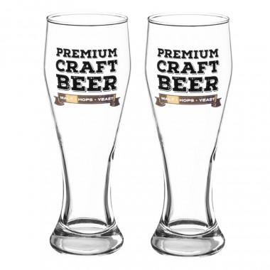 Set 2 verres à biere premium 42cl