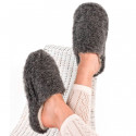 Chaussons Basic Laine Gris Alwero