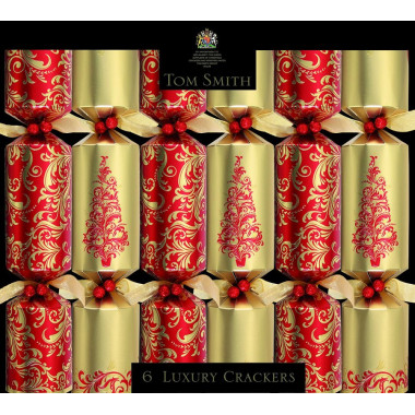 Christmas Crackers Red & Gold Luxury Tom Smith x6