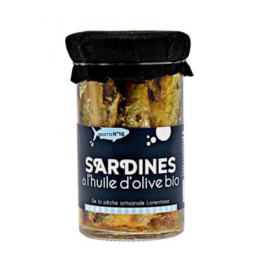 Sardines a l'huile d'olive bio 245g