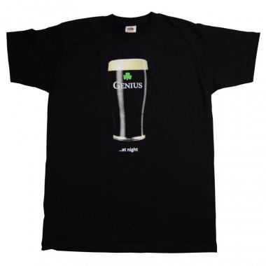 T-shirt Noir Genius At Night