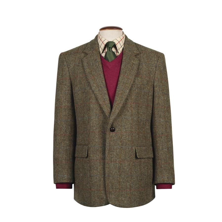 veste taransay carreaux verts harris tweed