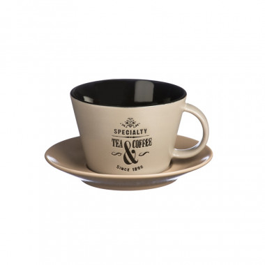 Tasse et Soucoupe Taupe Specialty Tea 250ml