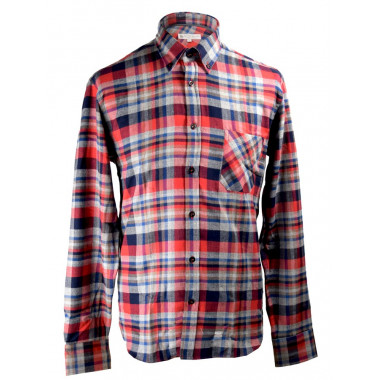 Chemise Flanelle Carreaux Bleu-Rouge Out of Ireland