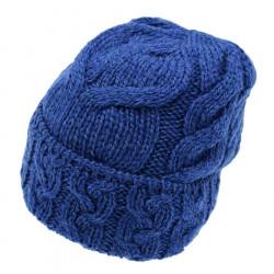 Bonnet Mérinos Bleu Carraig Donn