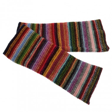 Mitaines Lambswool Rayées Multicolores The Scarf Company