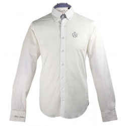 Chemise Col Bouton Blanche Black Wellis