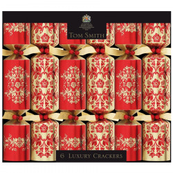 Christmas Crackers Rouge & Or Luxury Tom Smith x6