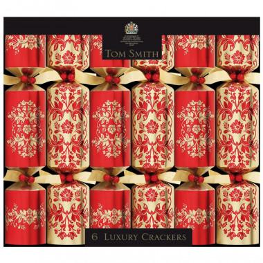 Christmas Crackers Rouge & Or Luxury Tom Smith x6