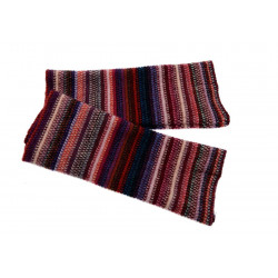 Mitaines Lambswool Rayée Prune The Scarf Company