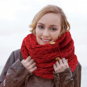 Snood à Boutons Rouge Carraig Donn