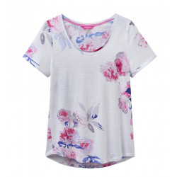 T-shirt Jersey Imprimé Fleurs Joules