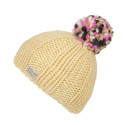 Kusan Ecru Hat with Multicoloured Pompom