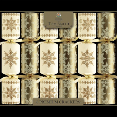 Tom Smith Gold & Cream Premium Christmas Crackers  x6