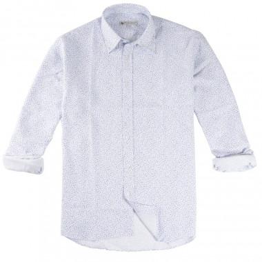 Chemise Blanche à Fleurs Bleues Out Of Ireland