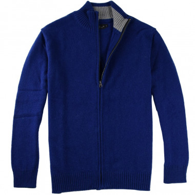 Celtic Alliance Lambswool Ink Cardigan with a zip