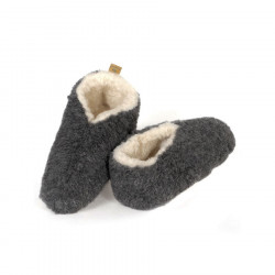 Chaussons Skiper Laine Gris Alwero