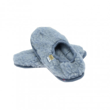 Alwero Blue Sky Wool Ballerina Slippers