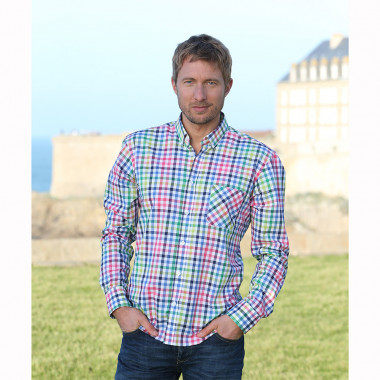 Out Of Ireland Vichy Blue Pink Green Shirt