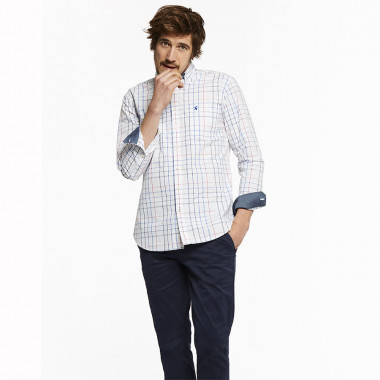 Tom Joule Blue White Pink Tattersall Cotton Shirt