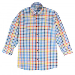 Out Of Ireland Vichy Blue Yellow Orange Shirt