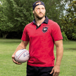 Polo Jersey Manches Courtes Rouge Ruckfield