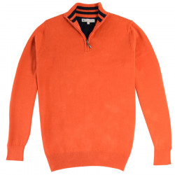 Out Of Ireland Orange 1/4 Zip Neck Sweater