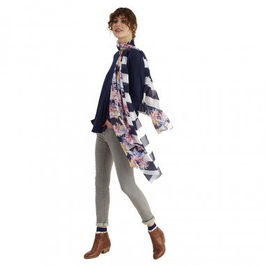 Tom Joule Stripes and Flowers Scarf