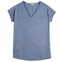 Out Of Ireland Blue Linen T-Shirt