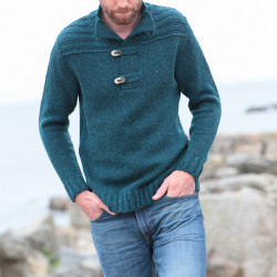 Out Of Ireland Petrol Blue Jumper