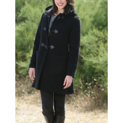Duffle-Coat Zippé Fiona Noir London Tradition