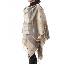 John Hanly Tartan Lambswool Cape
