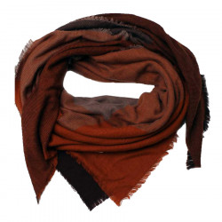Out Of Ireland Orange and Brown Large Square Scarf