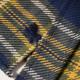 Chemise Epaisse Marine Moutarde Et Kaki à Carreaux Out Of Ireland