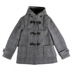 Duffle-Coat Court Erica Prince de Galles London Tradition