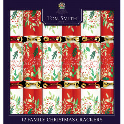 Tom Smith Party Crackers Traditional Family x 12