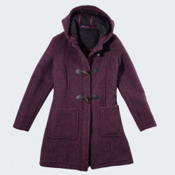 Duffle-coat Fiona Zippé Aubergine London Tradition