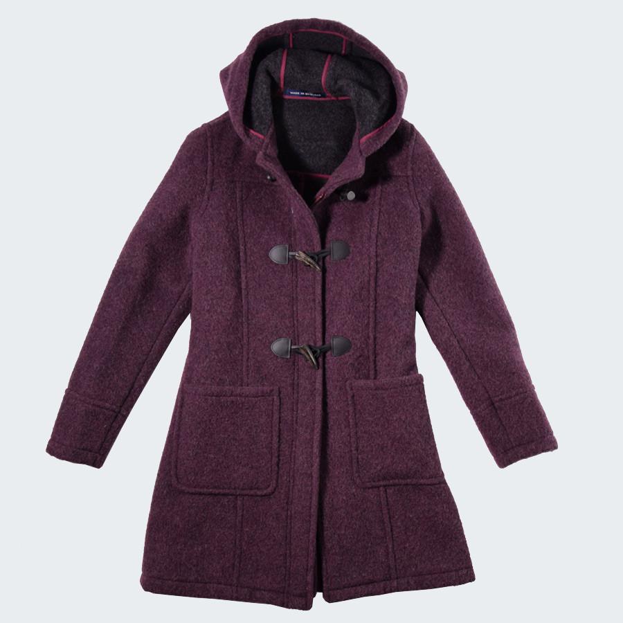 83d6b29c6a London Tradition Aubergine Fiona Duffle-Coat