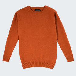 Celtic Alliance Orange Round-Neck Lambswool Jumper