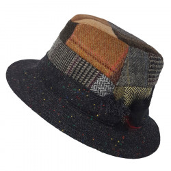 Hanna Hats Dark Patchwork Hat