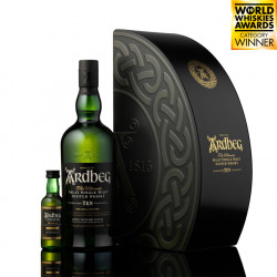 Ardbeg 10 Years Old Quadrant Box 70cl 46° + 5cl uigeadail 54.2°