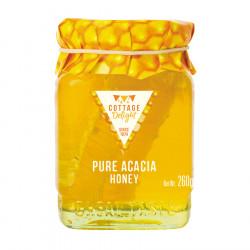 Miel Morceaux d'Alvéoles d'Acacia Cottage Delight 260g