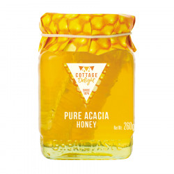 Pure Acacia Honey with Cut Comb Cottage Delight 260g