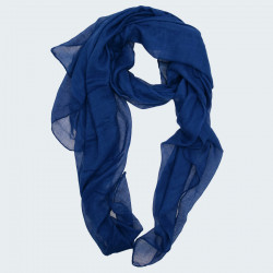 Out Of Ireland Navy Bleu Plain Scarf