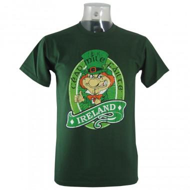 T-shirt Leprechaun Ireland Vert Foncé