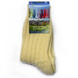Long Unbleached Woolen Socks