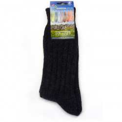 Chaussettes Courtes Anthracite 100% Laine Donegal Socks